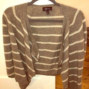 Aqua cashmere striped cardigan